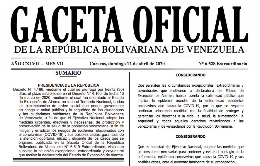 Gaceta Oficial Extraordinaria 6542