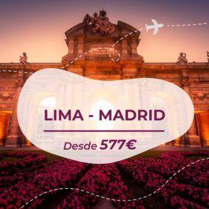 Vuelo barato Lima Madrid