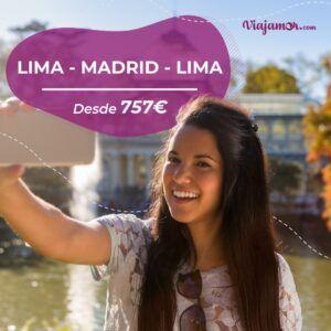 Vuelo barato Lima-Madrid-Lima